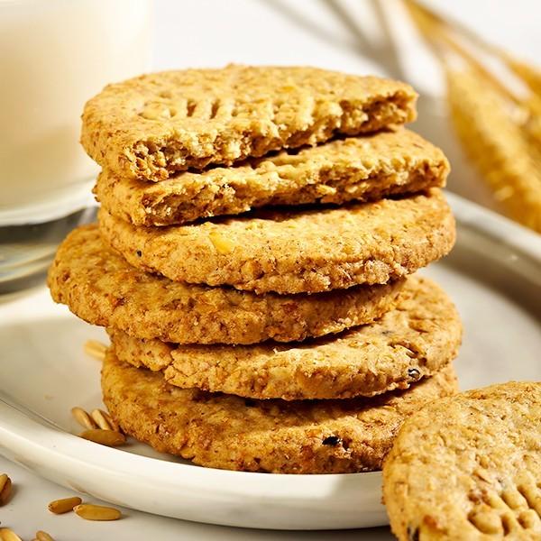 无糖麦麸饼干