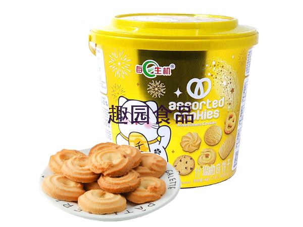 趣园食品为新盟食品代加工每日生机曲奇饼干